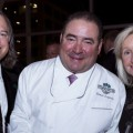 Brook and Pam Smith of Louisville, Kentucky, flank their friend Emeril Lagasse – well-known chef, restaurateur and author – all passionate food advocates. The Smiths have contributed major support to the Southern Foodways Alliance in the UM Center for the Study of Southern Culture to create the Smith Symposium Fellows program. Photo courtesy Steve Freeman.