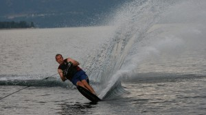 Water skiing is one of Erik Hurlen's favorite hobbies outside the classroom.