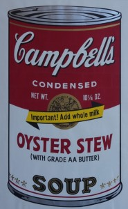 """Andy Warhol's screen print """"Oyster Stew"""""""