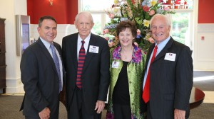 UM education dean David Rock, Jerome Smith, Judith Reynolds and Milton Kuykendall at the Inn at Ole Miss following the School of Education Hall of Fame induction.