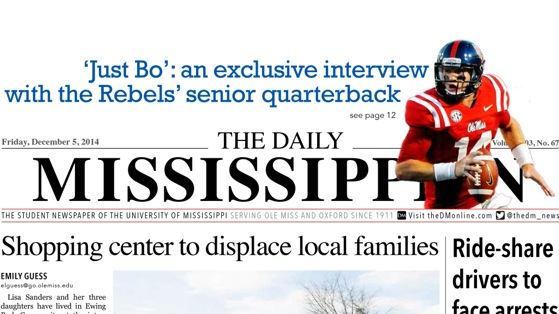 Daily Mississippian Named a Top 3 Collegiate Newspaper