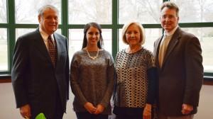 Bob Buchanan (left), Sara Taylor Jenkins, Gloria Smith and David D. Allen