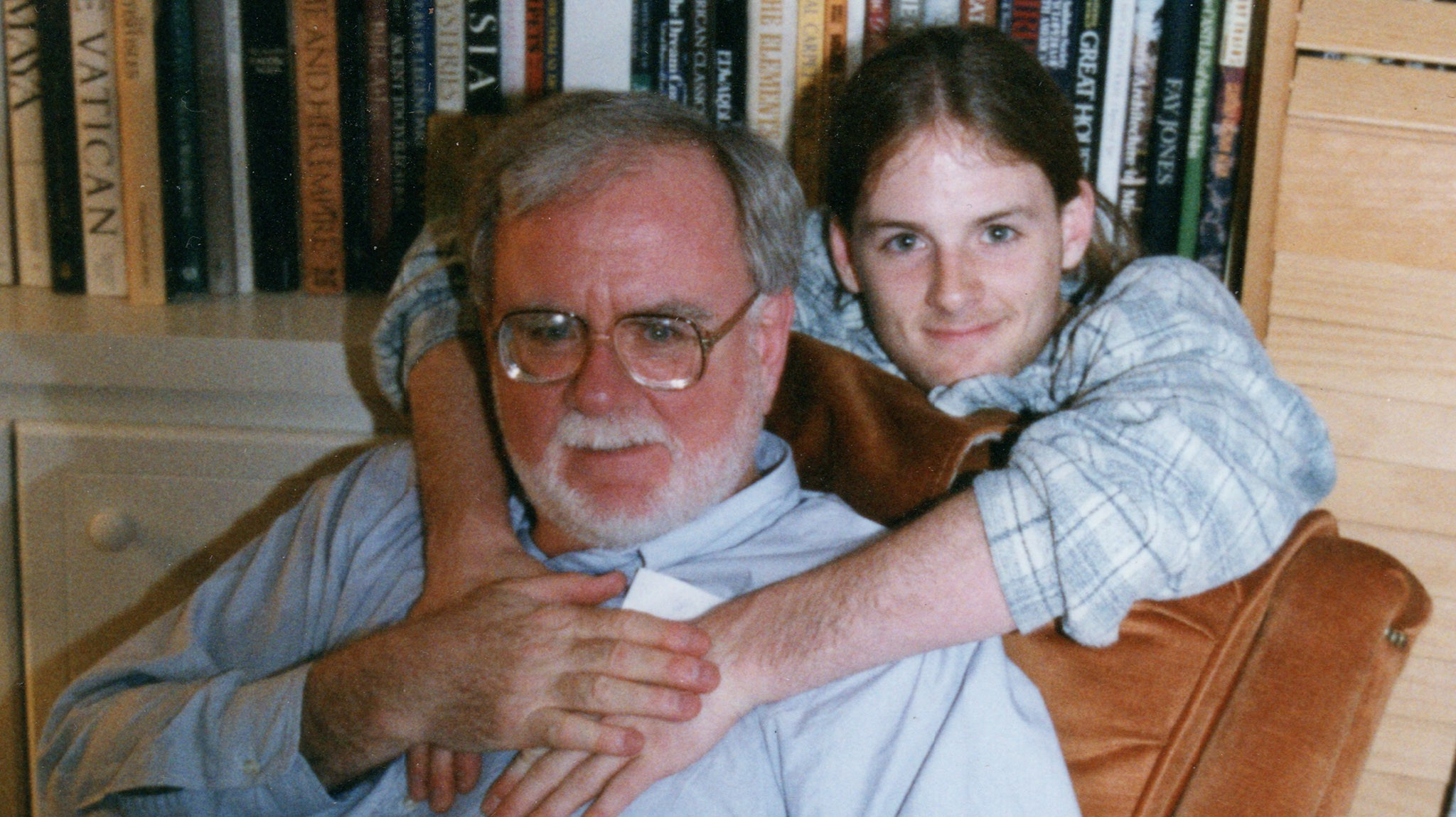 Morgan Martin, right, and his father, Benjamin Martin.