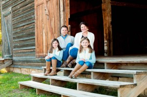 Mike and Emily Williams enjoy family time with their daughters.