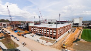 The parking garage will open June 22 to faculty and staff. Photo by Robert Jordan/Ole Miss Communications