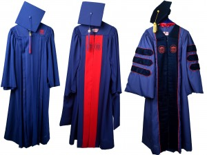 For the first time in its more than 160 year history, the university has its own custom regalia, which graduates will wear at the 2016 Commencement.