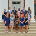 UM third METP Cohort (left to right). Back row: Harper Panter, Luke Lee, Alex Battaglia, Bre Comley, Austin Bradley, Abby Ozement. Middle row: Allie Roberson, Katie Simpson, Meg Besaw, Julie Banys, David Hamidy. Front row: Sarah Moncrief, Jenna Antolik, Shevanti Retnam, Allison Herman, Savannah Reeb.