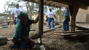 A team from Ole Miss helps clean up and rebuild after Hurricane Katrina at Lynn Meadows Discovery Center in Gulfport. Photo by Robert Jordan
