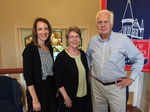 Susan Nicholas (left), North MS VISTA Project assistant director at UM, welcomes new volunteers Allen and Susan Spore.