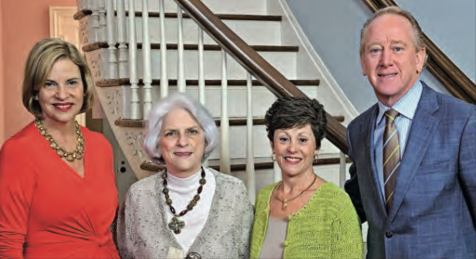 Past Legacy Award honoree Olivia Manning (left), OMWC members Gloria Kellum and Mary Ann Frugé, and Archie Manning