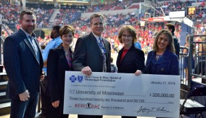 The Blue Cross & Blue Shield of Mississippi Foundation awarded the University of Mississippi $326,000 for new health and wellness programs on campus that extends into the local schools and communities.