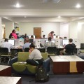 Students make use of the J.D. Williams library during the last week of classes before finals.