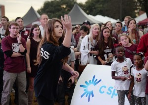 Oxford, Mississippi native and 19-year-old sophomore Marlee Crawford, a journalism major at the University of Mississippi, won the C Spire Toss for Tuition contest Saturday - earning free tuition for the remainder of her college education. (PRNewsFoto/C Spire)