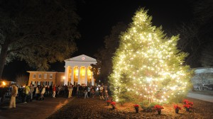 The annual lighting of the Christmas tree will begin at 6 p.m. in front of the Lyceum.
