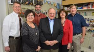 David D. Allen (left), Vicki Berch Johns, Troy Douglas, H.C. Rose, Kathy Rose and Mike Rose