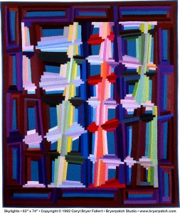 'Skylights' is one of the quilts included in 'Caryl Bryer Fallert-Gentry: 40 Years of Color, Light & Motion' at the University Museum.