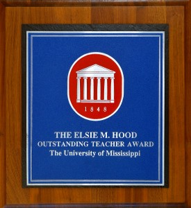 This year's winner of the Elsie M. Hood Outstanding Teacher Award will be chosen soon, and the award committee is accepting nominations through March 1.