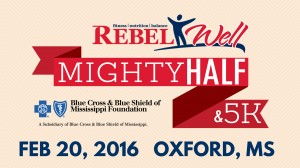 The inaugural event is sponsored by RebelWell and the Blue Cross & Blue Shield of Mississippi Foundation.