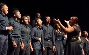 Members of the UM Gospel Choir perform during the Black History Month Kick-Off Celebration. Photo by Thomas Graning/Ole Miss Communications