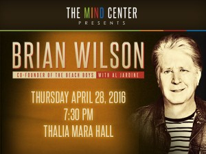 Brian Wilson to perform on Thursday, April 28 at 7:30pm.