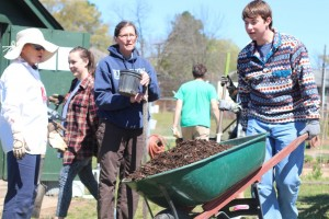 About 1,500 students volunteered for Saturday's Big Event, which involved service projects all over Oxford and Lafayette County. Photo courtesy of The Big Event.