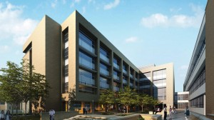 Artist rendering of the new School of Medicine building.