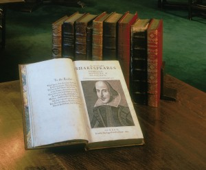 Shakespeare's First Folio was published in 1623. Only 233 copies are known to exist today, and one will be on display at the Getrude C. Ford Center for the Performing Arts April 11 to May 1.