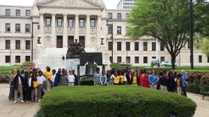 UM McLean Institute and Department of Political Science collaborate to take fifth-grade students from Charleston Middle School on a field trip to the Capitol in Jackson during the legislative session.