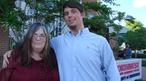 Matt Waldrup and his mom, Johnnie, at the University of Mississippi - DeSoto's Graduation Celebration on May 3.