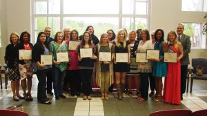 Nearly 20 students were inducted into Alpha Sigma Lambda at the University of Mississippi's Southaven campus.
