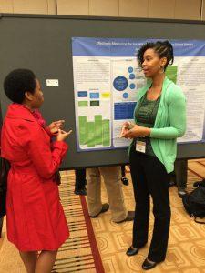 Jandel Crutchfield presents her social work research.