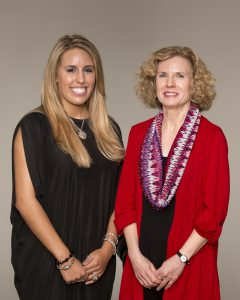 Tori Olker, a graduating senior, was named Outstanding PR Student by the Public Relations Association of Mississippi, as well as being awarded the Taylor Medal for the highest GPA in the Meek School of Journalism and New Media recently. Olker, a print major with a PR emphasis, is pictured here with her nominating instructor Robin Street. Photo credit: Stan O'Dell