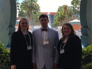 The UM Archaeology Ethics Bowl team is made up of UM juniors Alicia Dixon, Zachary Creel, and Libby Tyson