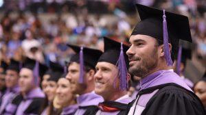 Graduates of the UMMC School of Dentistry prepare to accept their diplomas.