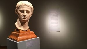 Gods and Men features artifacts from the UM Museum's David M. Robinson permanent collection, such as this sculpture of Emperor Tiberius.