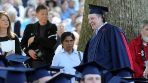 Johnny Neumann participates in the University of Mississippi's commencement ceremony May 14. Photo courtesy of Josh McCoy/Ole Miss Athletics.