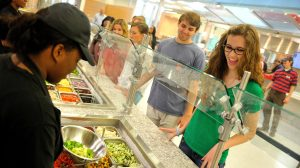 UM students sample menu in the Rebel Market restaurant on campus.Photo by Kevin Bain/Ole Miss Communications