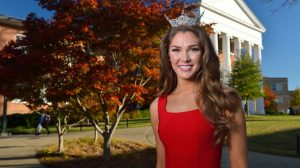 Miss University Carol Coker will compete for the Miss Mississippi crown this week in Vicksburg. Photo by Kevin Bain/Ole Miss Communications