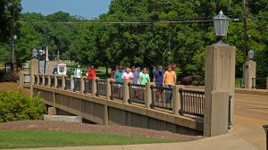 The University Avenue bridge will undergo construction beginning Wednesday. Photo by Robert Jordan/Ole Miss Communications