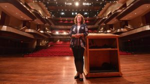 Julia Aubrey is now Director of the Gertrude C. Ford Center for the Performing Arts. Photo by Robert Jordan/Ole Miss Communications