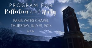 Join members of the LOU community in a Program for Reflection and Unity on Thursday, July 21 at 6 p.m.