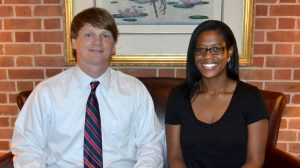 The University of Mississippi High School brought on two new full-time staff members this summer to help with increasing enrollments and student services for the over 250 students earning credits in the online program. Serving as the principal and coordinator for UMHS will be Thomas Harrington (l) and Krystal Rae Baker (r) will now coordinate enrollment and records.