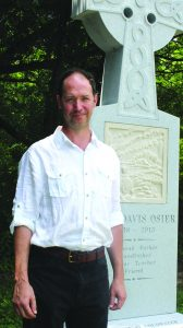 Jared Spears, a University of Mississippi faculty member and alumnus of Northwest Mississippi Community College, has sculped a monument in memory of mentor and beloved NMCC English instructor John Osier. Photo courtesy NMCC