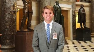 Miles Johnson inside nation's Capital Building in Washington D.C. (Submitted photo)