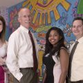 The UMMC SPARK team includes, from left, research coordinator Kristen Callahan, Dr. Robert Annett, research coordinator Sabrina White and assistant professor of pediatrics Dr. Dustin Sarver. UMMC photo