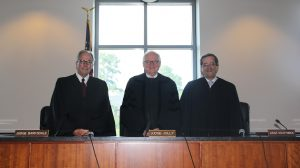 Judge Rhesa Barksdale, Judge Grady Jolly, and Judge Lesley Southwick made up the panel of Fifth Circuit Court of Appeals Judges that heard cases at the University of Mississippi School of Law.