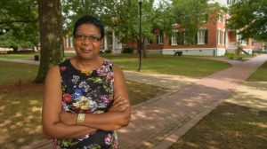 Sarah Dixon Pegues plans to retire in December after 35 years with the university's Center for the Study of Southern Culture. Photo by Robert Jordan/Ole Miss Communications