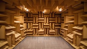 The anechoic chamber in the National Center for Physical Acoustics is one of the many demos open to the public during the facility's 30th anniversary celebration Oct. 14.Photo by Kevin Bain/Ole Miss Communications