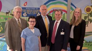 The team of medical experts involved in the National Institutes of Health ECHO grant to UMMC includes, from left, Dr. Richard Summers, Dr. Norma Ojeda, Dr. Rob Annett, Dr. Rick Barr and Dr. Whitney Herring.