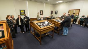 The J.D. Williams Library features a new exhibit available to the public in their Department of Archives and Special Collections, including items from Eudora Welty and Hubert Creekmore. Photo by Robert Jordan/Ole Miss Communications